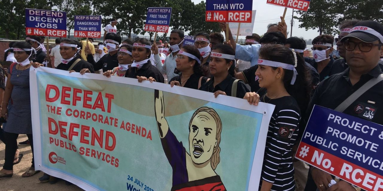 Workers call on Governments to Defend the Public Interest and Reject RCEP