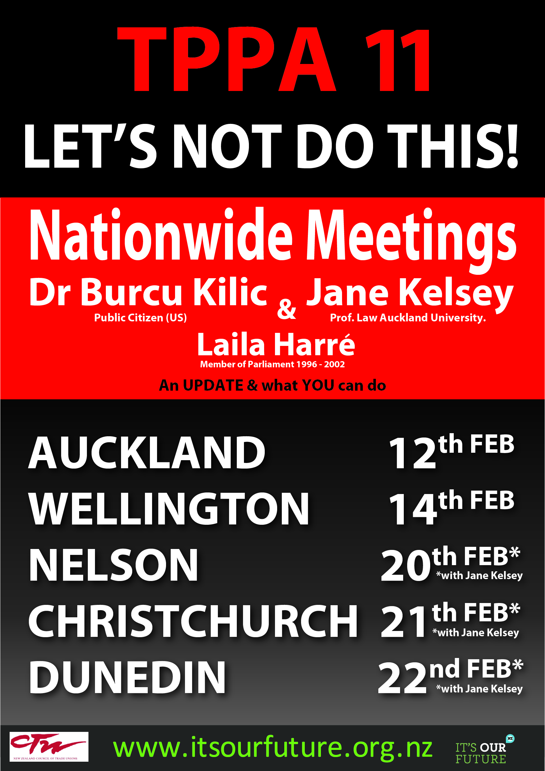 Nationwide Public Meetings On The Tppa 11 Its Our Future
