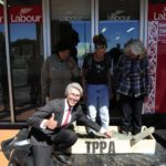 Three women cemented into the TPP outside Labour Party office in Christchurch – Our Children's Future